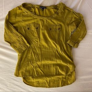 3/4 Length Olive-Colored Blouse